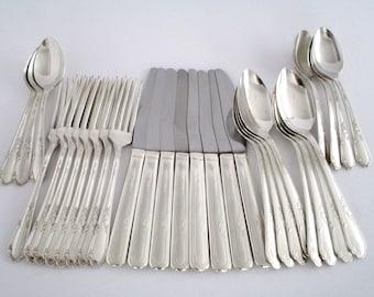 WM. A. Rogers Oneida LTD. Silver Plated Flatware,  Vintage Tableware