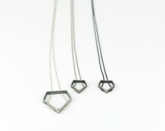 "Necklace ""Diamante"" Collection - Sterling Silver"