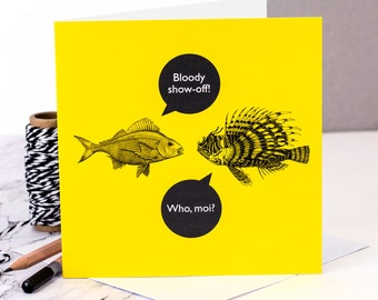 Funny Card 'Bloody Show Off!'; Funny Birthday Card; Funny Congratulation Card; Funny Friendship Card; GC476