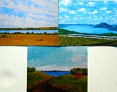 """Assorted Finger Lakes Greeting Cards (Set of 6 print reproduction-Skaneateles, Canandaigua, and Hemlock) 4"""" x 5.5"""" by Mike Kraus"""