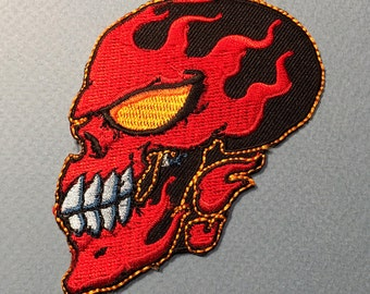 Flame Face • Embroidered Patch