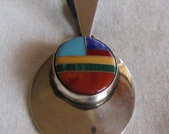 Sterling Silver Pendant by Navajo Ella Peter