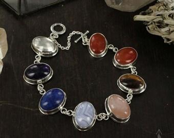 Yoga bracelet - Chakras bracelet - Meditation bracelet - Healing stones bracelet - Yoga jewelry - Handmade