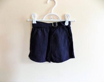 50s Boys Shorts, Kids Shorts, Mid Century, Navy Blue, Style Wise, 1950s, Size 6, Belted Shorts, Kids Vintage Clothing, Boys Vintage
