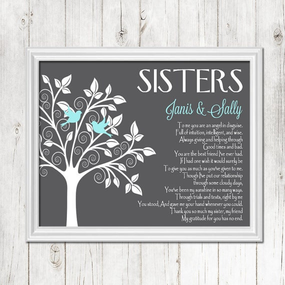 Gifts For Sisters Wedding: SISTER Gift Print Personalized Gift For Your Sister Wedding