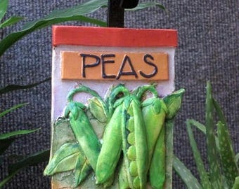 Peas vegetable garden marker