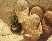Sandals , Straw Sandals Tribal Bohemian, raffia shoes , Summer Sandals, Greek sandals, Gladiator, Beach, Pom pom sandals