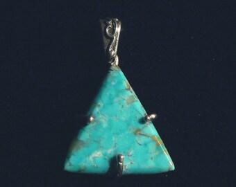 Kingman Turquoise Triangle Pendant, 15 carat