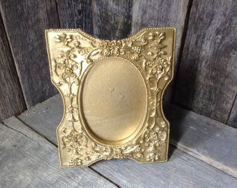 174 - Picture Frames -Vintage - Very Ornate - Gold - Wedding - Baby Nursery - Hollywood Regency -Wall Decor - Table Top Ready