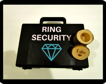 Light up LED ring box briefcase gift for ring bearer box light up ring security diamond box LED briefcase box I do wood wedding
