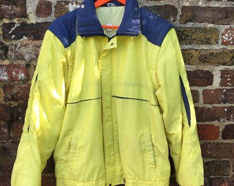 SALE 80s yellow and blue jacket