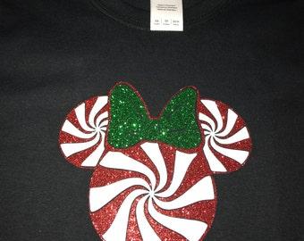 Peppermint Minnie inspired shirt/onesie