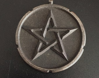 Pentagram Pendant - Pentagram necklace, Spiritual jewelry 40mm