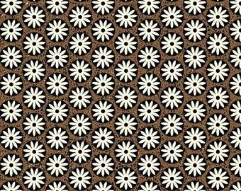 Sgraffito Circle Floral Bisque/Tan By ELISE K-By the Yard Item #10108-07