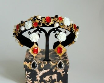 Tiara and Earrings Dolce Gabbana style - Milena
