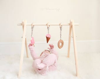 Baby Gym - Classic Wooden Baby Play Gym - Baby toys - Baby gift - learning - Activity gym - Gender Neutral - Baby shower gift -