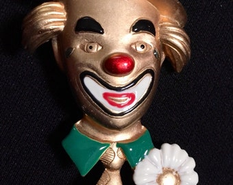 Danecraft Clown Brooch / Pin