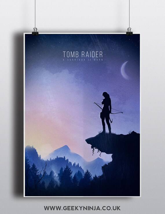 Tomb Raider Minimalist Poster - Tomb Raider Inspired Print