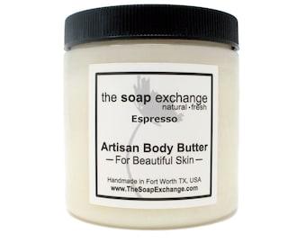 Espresso Body Butter, Body Spread, Body Cream, Shea Butter, Body Moisturizer, Skin Care, Aloe Vera, Natural, The Soap Exchange