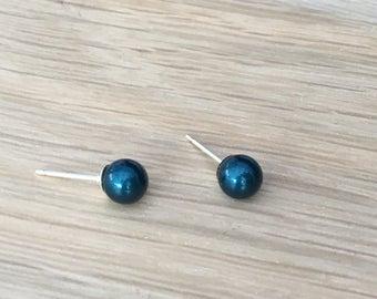Swarovski pearl & sterling silver earrings 6mm