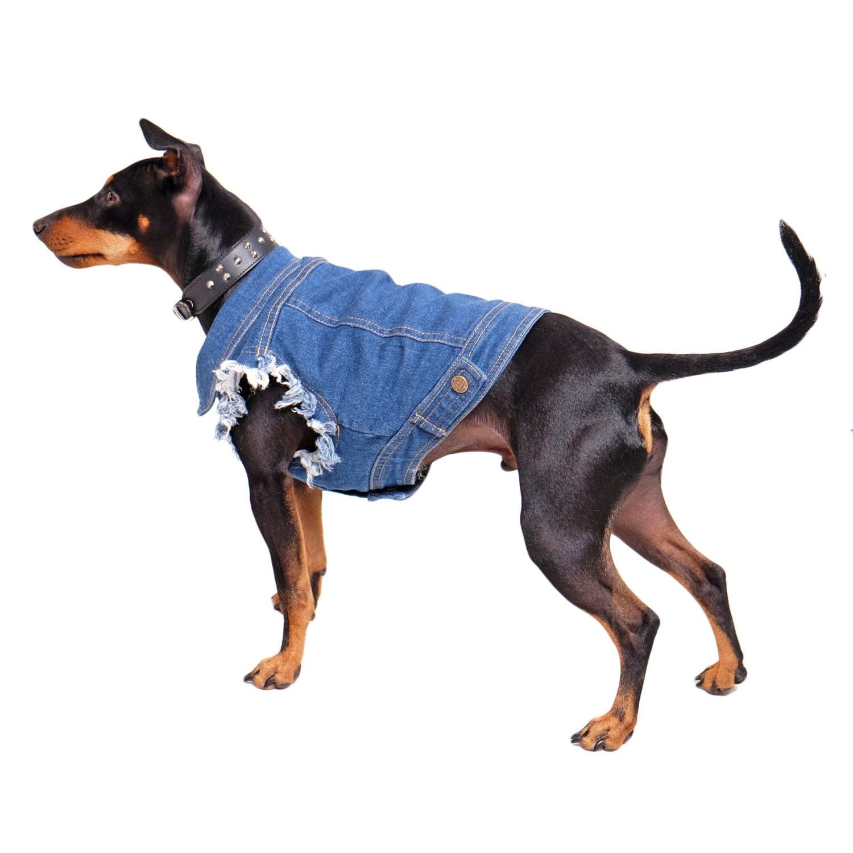 Denim Dog Vest