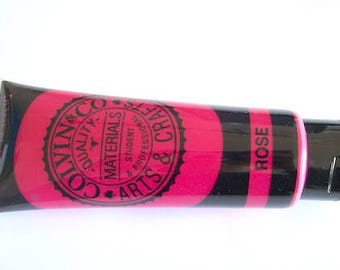 Pink paint Acrylic Paint Rose Pink 120ml Colvin & Co Acrylic paint tube NEW