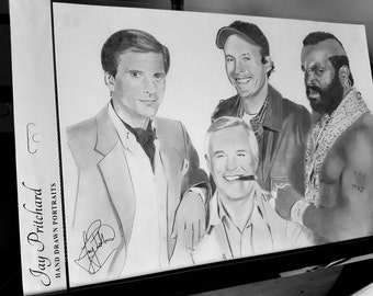The A-Team pencil drawing