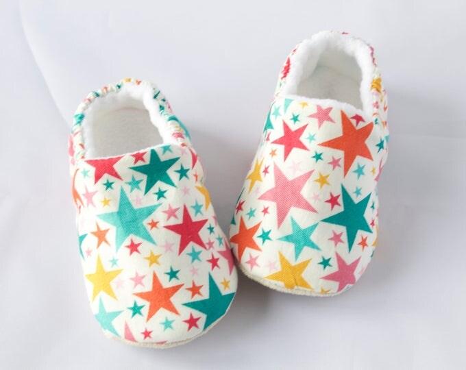 Bright summer stars, baby girl pre walker/ toddler shoes