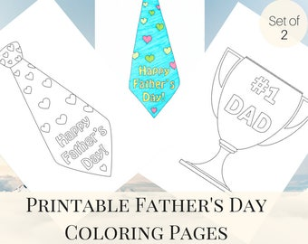 Father's Day Coloring Page, Printable Coloring Page, Father's Day Printable, Father's Day from Kids, Father's Day from Son
