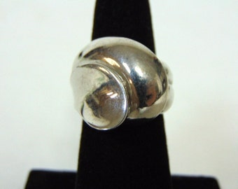 Womens Vintage Estate .925 Sterling Silver Ring 10.4g E2803