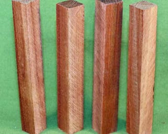 """Bloodwood Pen Turning Blanks - 4 EACH -  3/4"""" x 3/4"""" x 6 1/2"""" - FREE SHIPPING  - Item #330"""