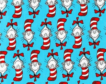 Dr Suess Cat & The Hat 3 Fabric