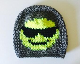 Crochet Slouchy Hat | Sunglasses Emoji | iHat v1.0