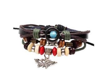 Custom Bracelet, Personalized Bracelet, Leather Bracelet