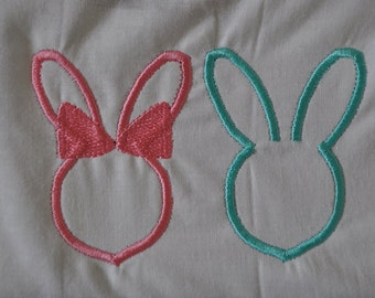 Bunny Couple Embroidery Files * Male Bunny One Color * Female Bunny One Color * Easter Embroidery