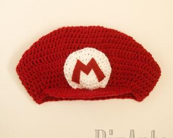 Super Mario Crochet Hat | Mario Character Costume Hat | Winter Beanie