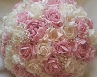 Stunning bridal brooch bouquet, available most colours.