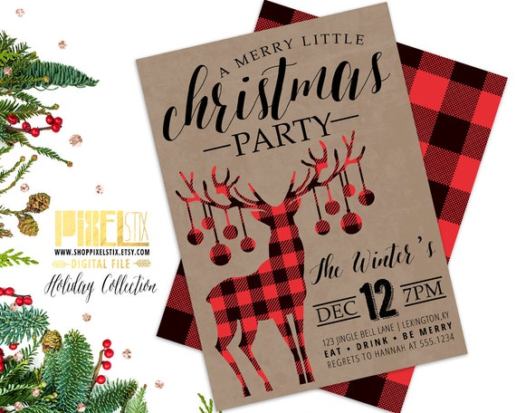 items similar to christmas party invitation  holiday party
