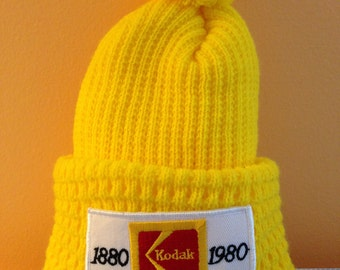 Vintage Kodak Bicentennial Winter Ski Cap 1880-1980 Thick Knit