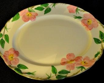 """Vintage Franciscan Platter, """"Desert Rose"""" 1958-1960 Great Condition"""