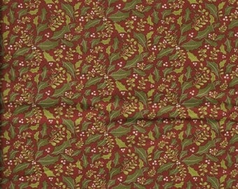 New Natures Christmas with Holly 100% cotton fabric by the Fat Quarter