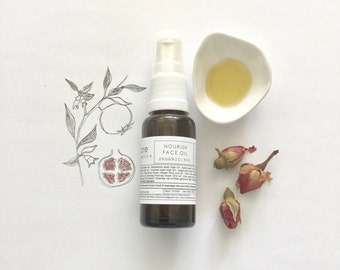 NOURISH FACE OIL ~ Dry, Dull & Dehydrated Skin ~ Uneven Tone Texture~ Diminish Fine Lines | Vegan |
