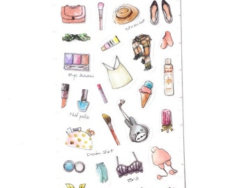 Clothing & Make up stickers