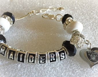 Oakland Raiders Jewelry bracelets  inspired Oakland Raiders