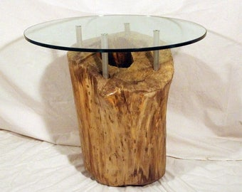 Coffee table lighted up stump-Mod. SOHO