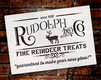 Rudolph and Co Christmas Stencil - Select Size - STCL1538 - by StudioR12