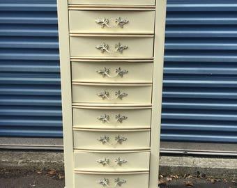 Vintage French Lingerie Chest Tall Dresser