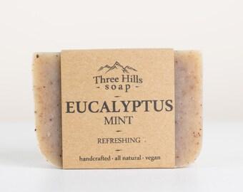 Eucalyptus Soap, Spearmint Soap, Mint Soap, Natural Soap,Irish Soap,Eucalyptus Mint Soap,Handmade Soap,Gift for Him, Gift for Her,Vegan Soap