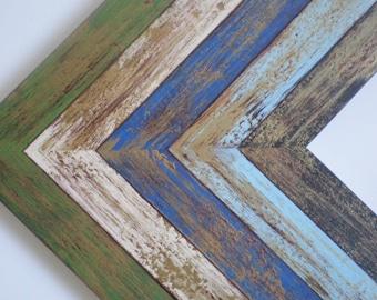 """Photo frame 8x8"""" frame photo frame distressed frame art frame wood frame wedding frame cottage frame shabby chic frame RusticFrameShop"""