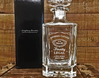Boyfriend Gift, Personalized Whiskey Decanter Set, Gifts for Him, Groomsmen Gifts
